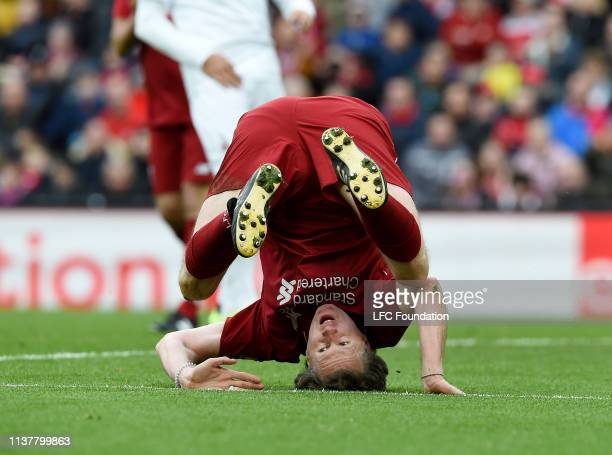 Steve McManaman of Liverpool FC Legends during the friendly match between Liverpool FC Legends and AC Milan Glorie at Anfield on March 23 2019 in...
