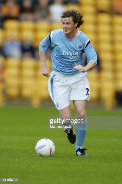 Steve McManaman of Manchester City in action during the PreSeason friendly match between Wolverhampton Wanderers and Manchester City at Molineux...