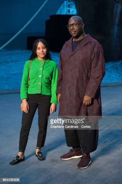Steve McQueen and a guest attends the Chanel Cruise 2018/2019 Collection at Le Grand Palais on May 3 2018 in Paris France