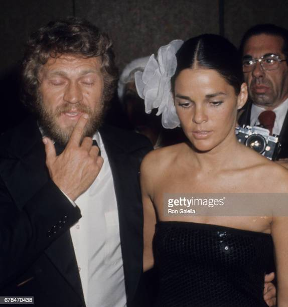 Steve McQueen and Ali MacGraw attend Second Annual American Film Institute Lifetime Achievement Awards Honoring James Cagney on March 13 1974 at the...