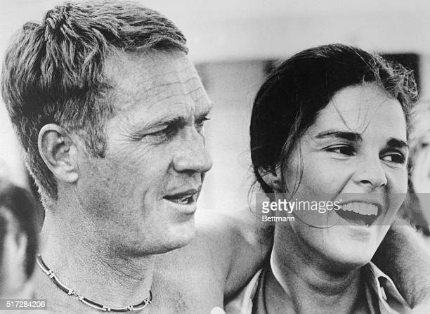 Steve McQueen and Ali McGraw in a scene from the 1972 movie The Getaway