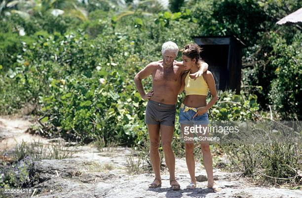 Steve McQueen and girlfriend Ali MacGraw talk during a break from filming the movie Papillon in Jamaica The movie starred Steve McQueen and Dustin...