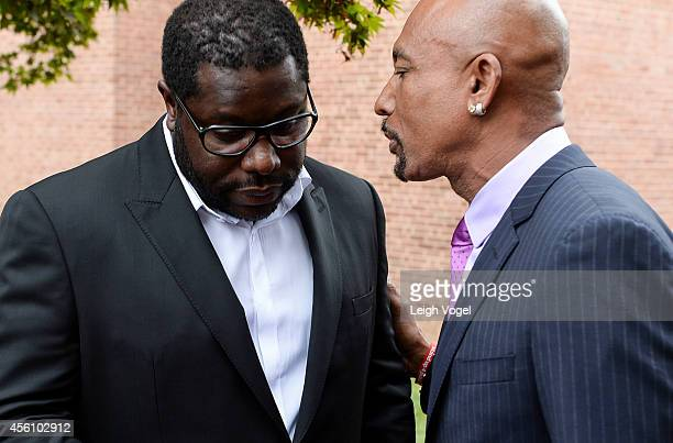 Steve McQueen and Montell Williams arrive at '12 Years a Slave' Town Hall Discussion at Howard University on September 25 2014 in Washington DC