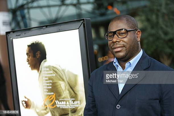 Steve McQueen arrives at the special Los Angeles screening of '12 Years A Slave' held at Directors Guild of America on October 14 2013 in Los Angeles...