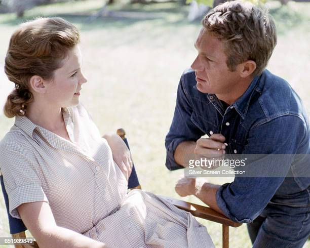 Steve McQueen as Henry Thomas and Lee Remick as Georgette Thomas in the film 'Baby the Rain Must Fall' 1965