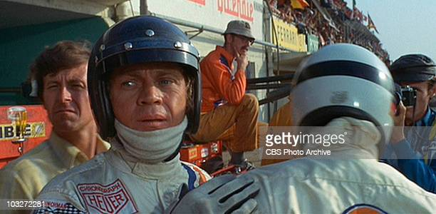 Steve McQueen as race car driver Michael Delaney in the movie 'Le Mans' 1971 Image is a frame grab
