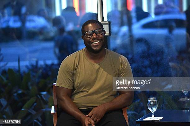 """Steve McQueen attends LACMA Director's Conversation With Steve McQueen, Kanye West, And Michael Govan About """"All Day/I Feel Like That"""" presented by..."""