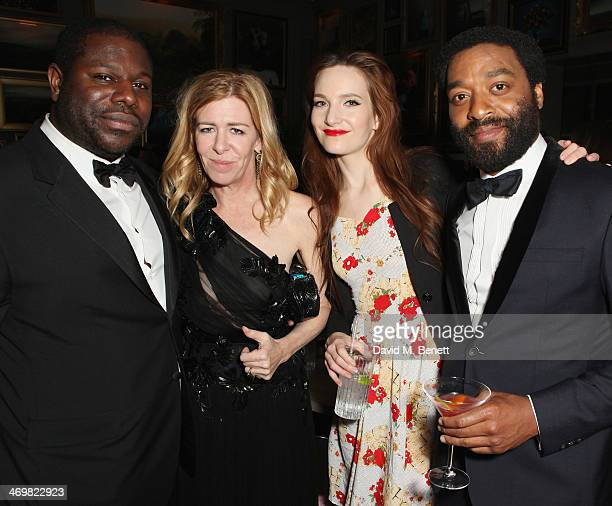 Steve McQueen Dede Gardner Sari Mercer and Chiwetel Ejiofor attend Entertainment One's BAFTA after party hosted by Grey Goose at The London Edition...
