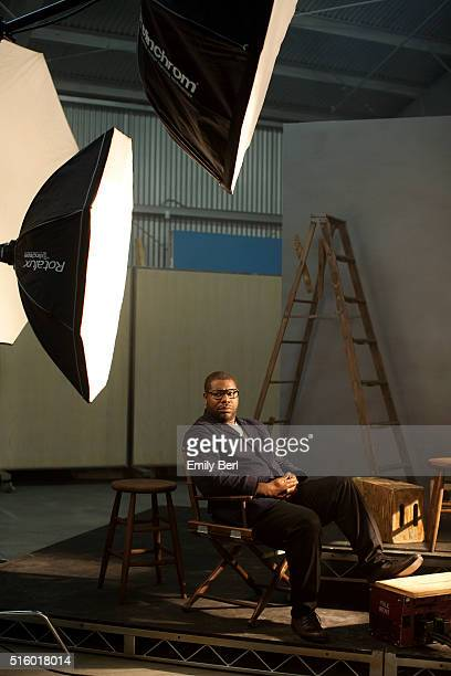 Steve McQueen is photographed behind the scenes of the The Hollywood Reporter Film Directors Roundtable for The Hollywood Reporter on November 5,...