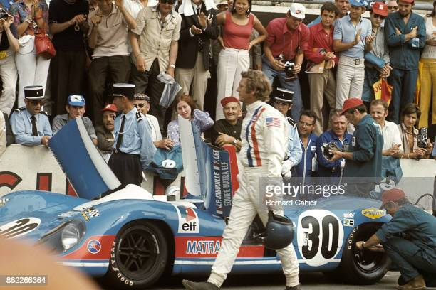"Steve McQueen, Matra-Simca MS660, 24 Hours of Le Mans, Le Mans, 14 June 1970. Hollywood star Steve McQueen during the shooting of his film ""Le Mans""."