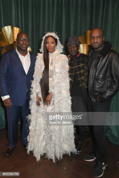Steve McQueen Naomi Campbell and Virgil Abloh attend as Tiffany Co partners with British Vogue Edward Enninful Steve McQueen Kate Moss and Naomi...