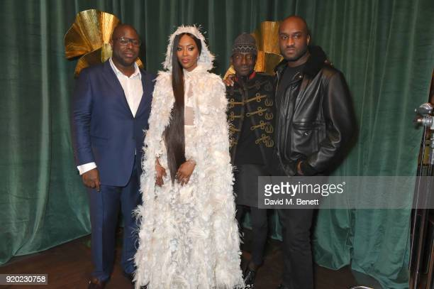Steve McQueen Naomi Campbell guest and Virgil Abloh attend as Tiffany Co partners with British Vogue Edward Enninful Steve McQueen Kate Moss and...