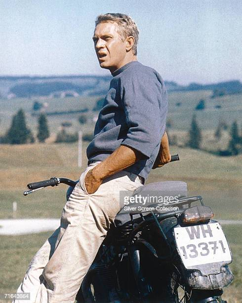 Steve McQueen on location in Bavaria as Captain Virgil Hilts in 'The Great Escape' directed by John Sturges 1963