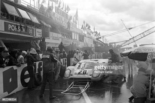Steve McQueen Porsche 917 24 Hours of Le Mans Le Mans 14 June 1970 A scene being filmed of Hollywood star Steve McQueen's movie Le Mans