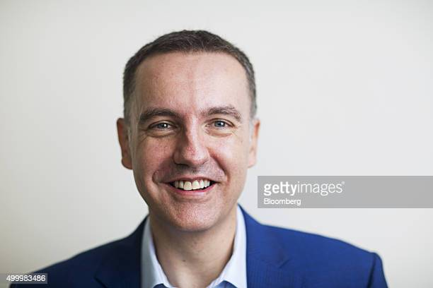 Steve Melhuish chief executive officer and cofounder of PropertyGuru Group poses for a photograph following a Bloomberg Television interview at the...