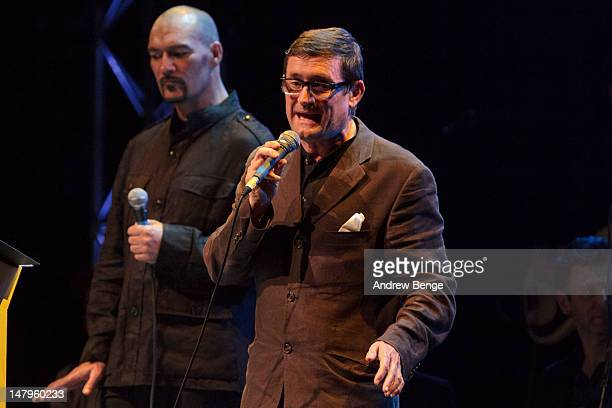 Steve Menzies and Paul Heaton perform on stage at Salford Lowry on July 6, 2012 in Manchester, United Kingdom.