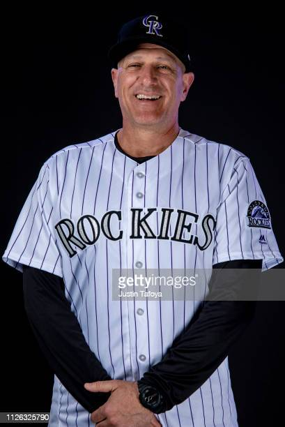 Steve Merriman of the Colorado Rockies poses during MLB Photo Day on February 20 2019 at Salt River Fields at Talking Stick in Scottsdale Arizona