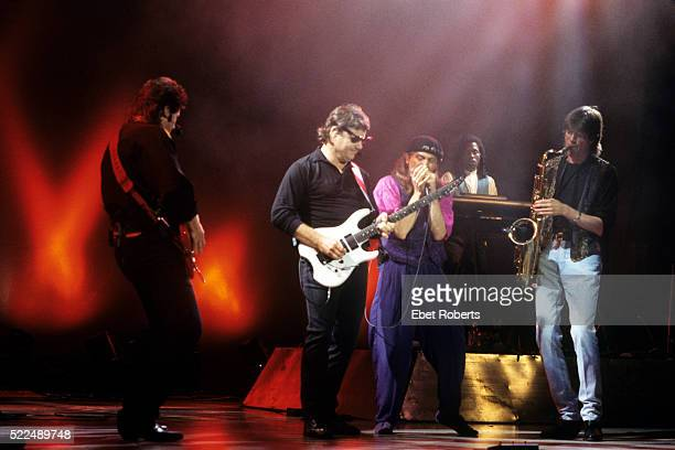 Steve Miller and band performing at the Jones Beach Theater in Wantagh, New York on July 1, 1993.