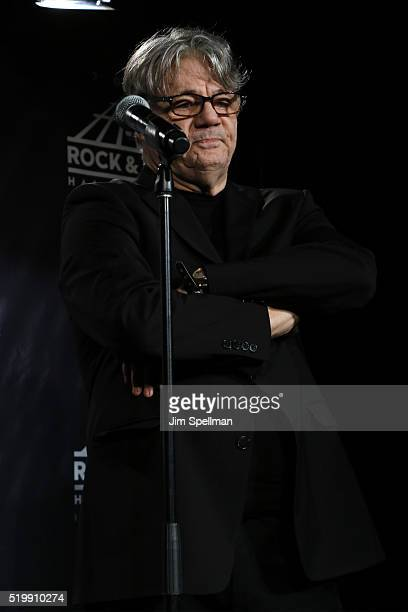 Steve Miller speaks in the press room at the 31st Annual Rock And Roll Hall Of Fame Induction Ceremony at Barclays Center of Brooklyn on April 8 2016...