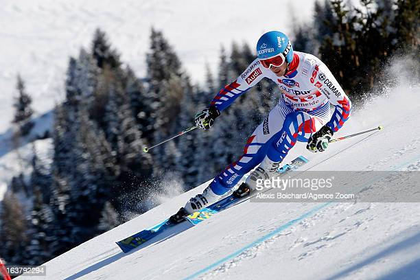 Steve Missillier of France competes during the Audi FIS Alpine Ski World Cup Men's Giant Slalom on March 16 2013 in Lenzerheide Switzerland