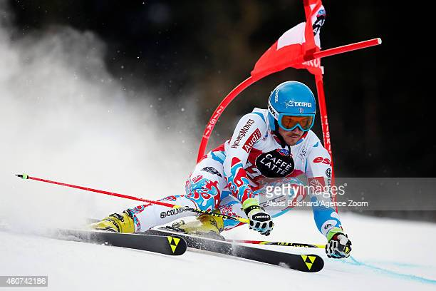 Steve Missillier of France competes during the Audi FIS Alpine Ski World Cup Men's Giant Slalom on December 21 2014 in Alta Badia Italy