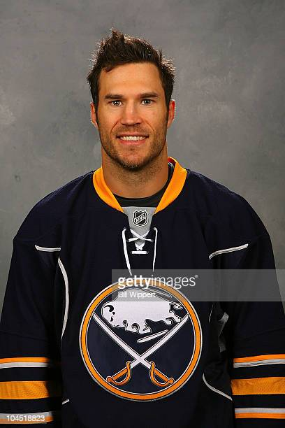 Steve Montador of the Buffalo Sabres poses for his official headshot for the 20102011 NHL season on September 17 2010 in Buffalo New York