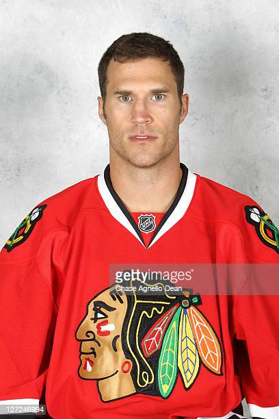 Steve Montador of the Chicago Blackhawks poses for his official headshot for the 20112012 season on September 15 2011 at the United Center in Chicago...