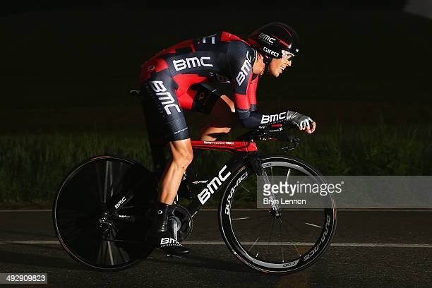 Steve Morabito of Switzerland and BMC Racing Team in action during the twelfth stage of the 2014 Giro d'Italia a 42km Individual Time Trial stage...