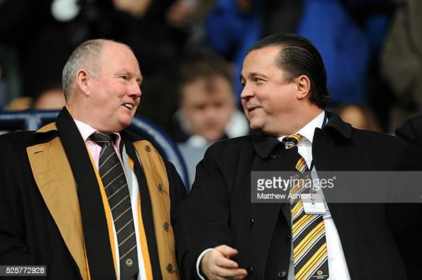 Steve Morgan owner of Wolverhampton Wanderers and Jez Moxey CEO of Wolverhampton Wanderers