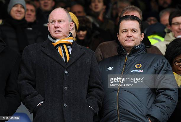 Steve Morgan the owner / chairman of Wolverhampton Wanderers and Jez Moxey the CEO of Wolverhampton Wanderers