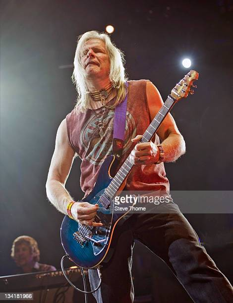 Steve Morse of Deep Purple performs on stage at LG Arena on November 27, 2011 in Birmingham, United Kingdom.