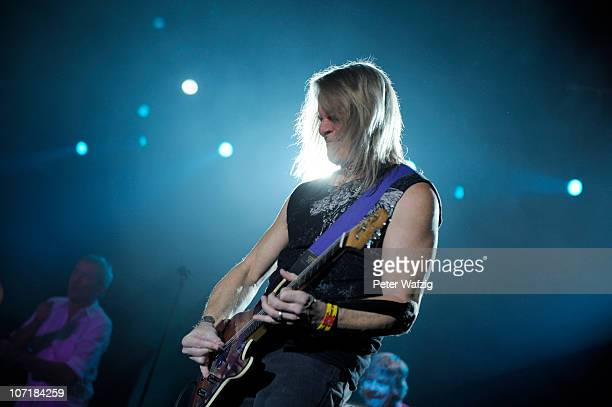 Steve Morse of Deep Purple performs on stage at the Grugahalle on November 28, 2010 in Essen, Germany.