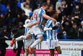 huddersfield england steve mounie huddersfield town
