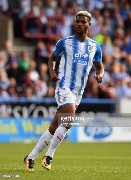 Steve Mounie of Huddersfield Town during the Premier League match between Huddersfield Town and Southampton at John Smith's Stadium on August 26 2017...