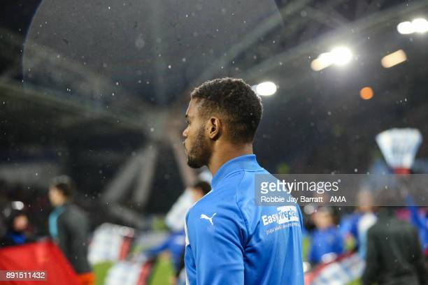 Steve Mounie of Huddersfield Town during the Premier League match between Huddersfield Town and Chelsea at John Smith's Stadium on December 12 2017...