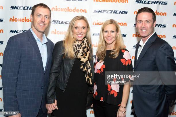 Steve Mullens Shauna Mullens Karla Purcell and Stephen McCall attend the 9th Annual SKECHERS Pier To Pier Friendship Walk Evening Of Celebration And...