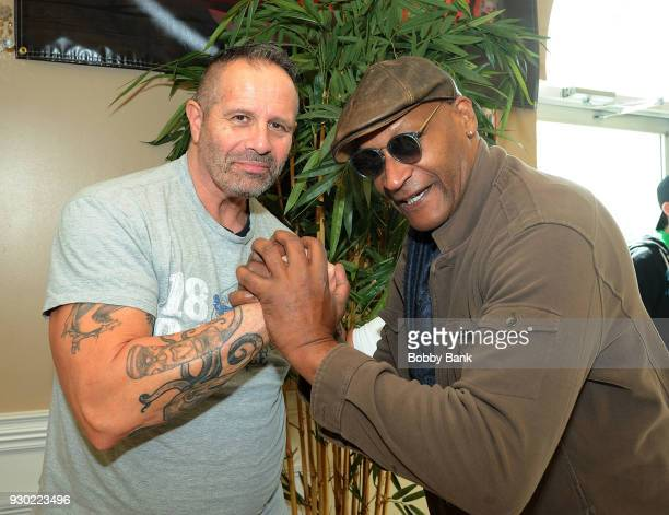 Steve Nappe and Tony Todd attend the 2018 Monster Mania Con at NJ Crowne Plaza Hotel on March 10 2018 in Cherry Hill New Jersey