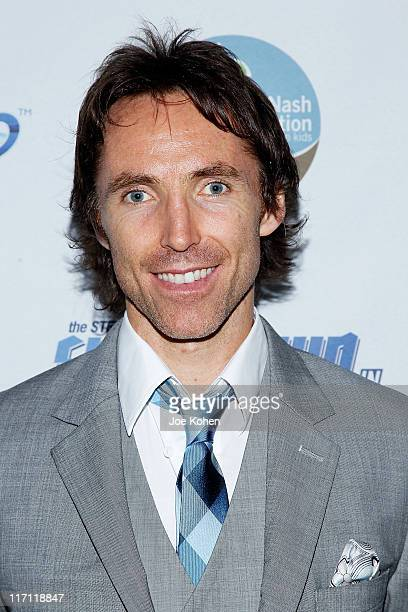 Steve Nash attends the after party for the 2011 Showdown in Chinatown soccer match at the Bar Basque on June 22 2011 in New York City
