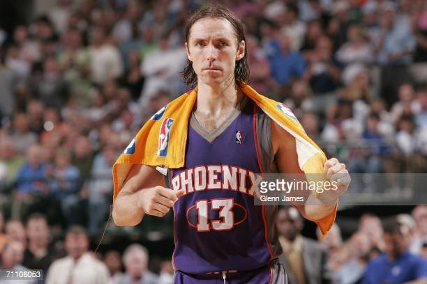 Steve Nash of the Phoenix Suns leaves the court after his team lost against the Dallas Mavericks in game five of the Western Conference Finals during...