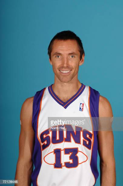 Steve Nash of the Phoenix Suns poses for a photo during Media Day at US Airways Center on September 29 2006 in Phoenix Arizona NOTE TO USER User...