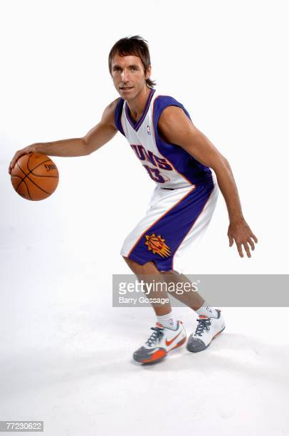 Steve Nash of the Phoenix Suns poses for a portrait during NBA Media Day at the US Airways Center on October 1 2007 in Phoenix Arizona NOTE TO USER...