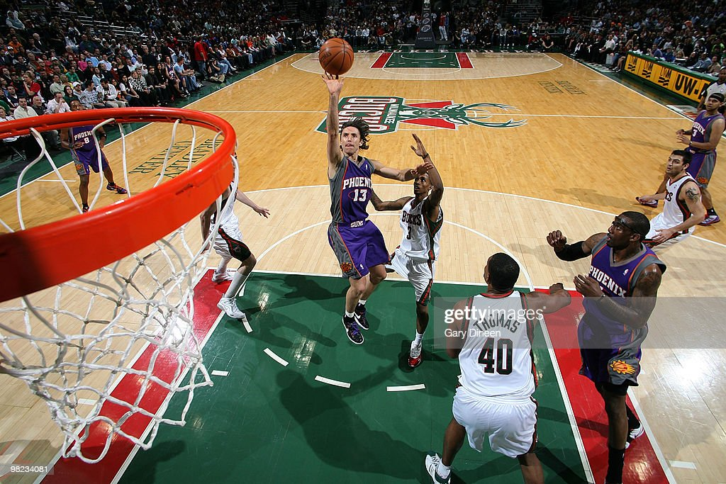 Steve Nash of the Phoenix Suns shoots a floater against Brandon... News  Photo - Getty Images