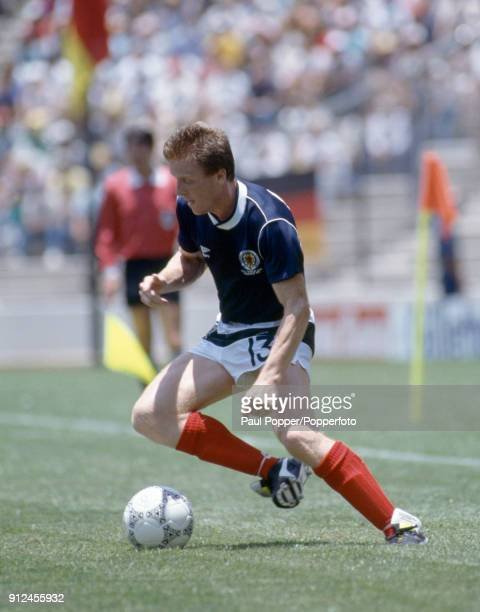 Steve Nicol in action for Scotland during the FIFA World Cup match between Scotland and West Germany at the Estadio Corregidora in Queretaro 8th June...