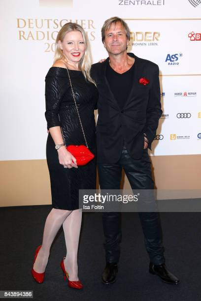 Steve Norman and his girlfriend Sabrina Winter attend the 'Deutscher Radiopreis' at Elbphilharmonie on September 7 2017 in Hamburg Germany
