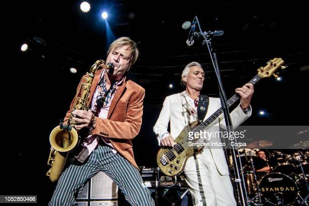 Steve Norman and Martin Kemp of Spandau Ballet perform on stage at Fabrique Club on October 23 2018 in Milan Italy