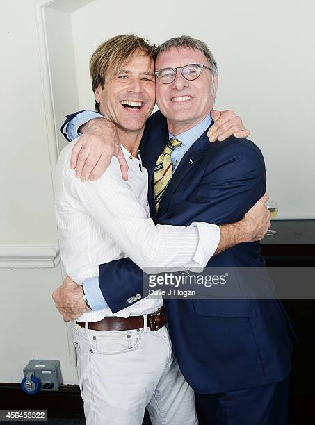 Steve Norman and Steve Harley attend the World Premiere of Soul Boys Of The Western World at Royal Albert Hall on September 30 2014 in London England