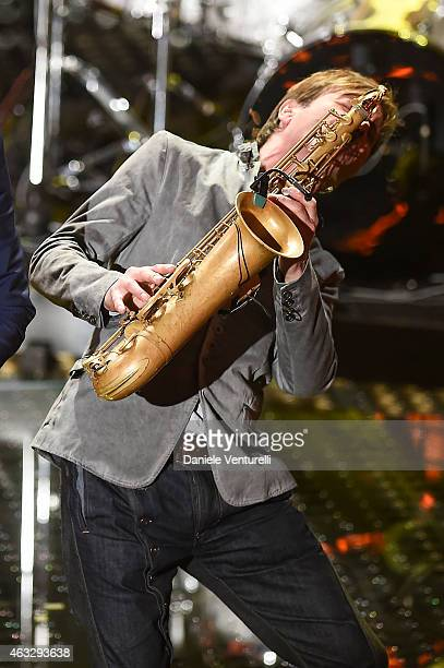 Steve Norman attends the thirth night of 65th Festival di Sanremo 2015 at Teatro Ariston on February 12 2015 in Sanremo Italy