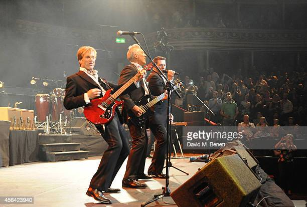 Steve Norman Martin Kemp and Tony Hadley perform at the World Premiere of 'Soul Boys Of The Western World' at Royal Albert Hall on September 30 2014...