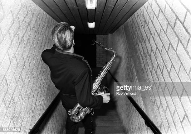 Steve Norman of Spandau Ballet backstage Ahoy Rotterdam Netherlands 28th February 1987
