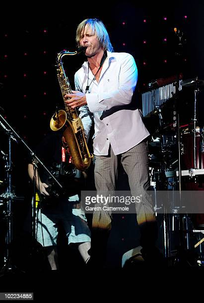 Steve Norman of Spandau Ballet performs at the Isle Of Man Bay Festival on June 19 2010 in Douglas Isle Of Man